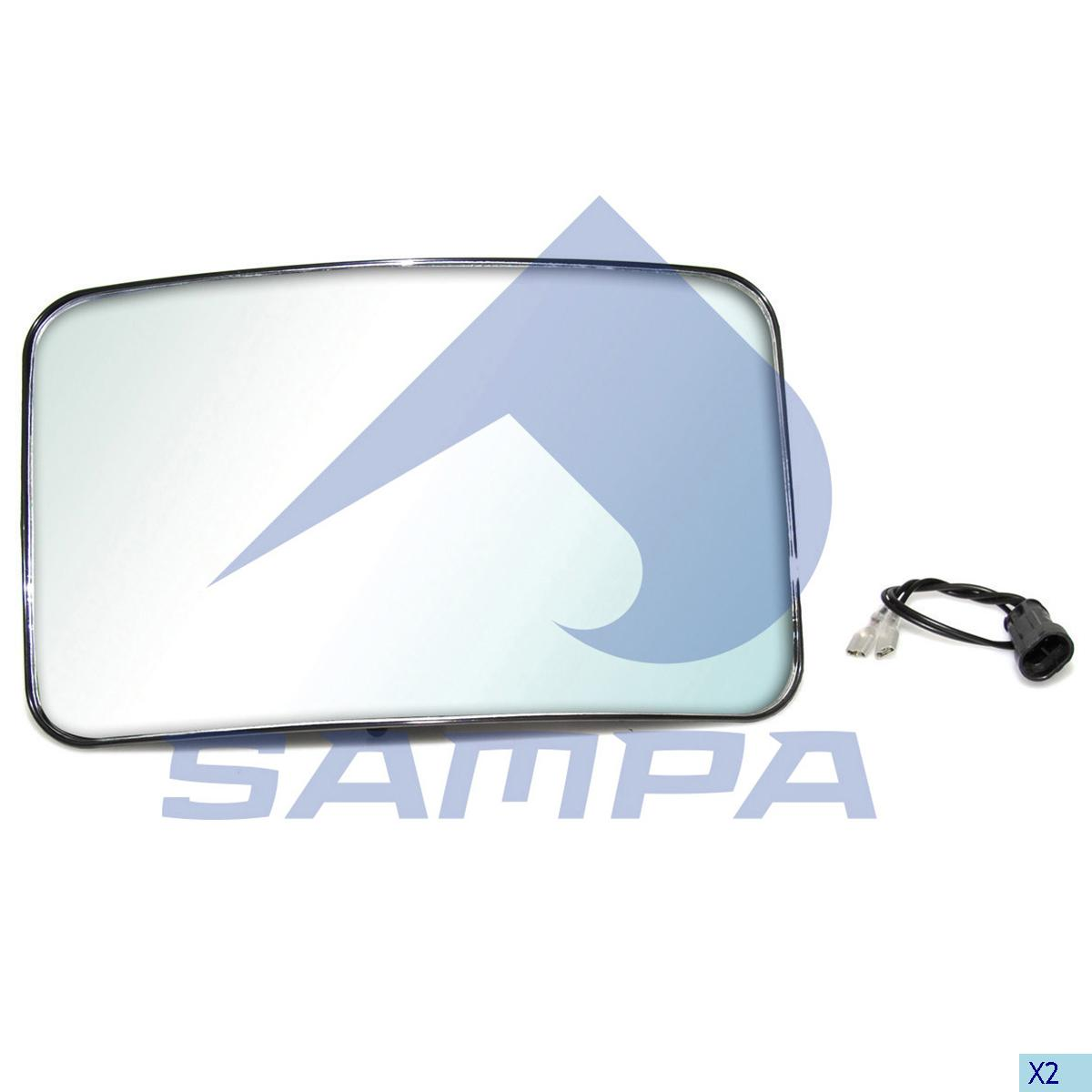 Mirror Glass, Iveco, Cab