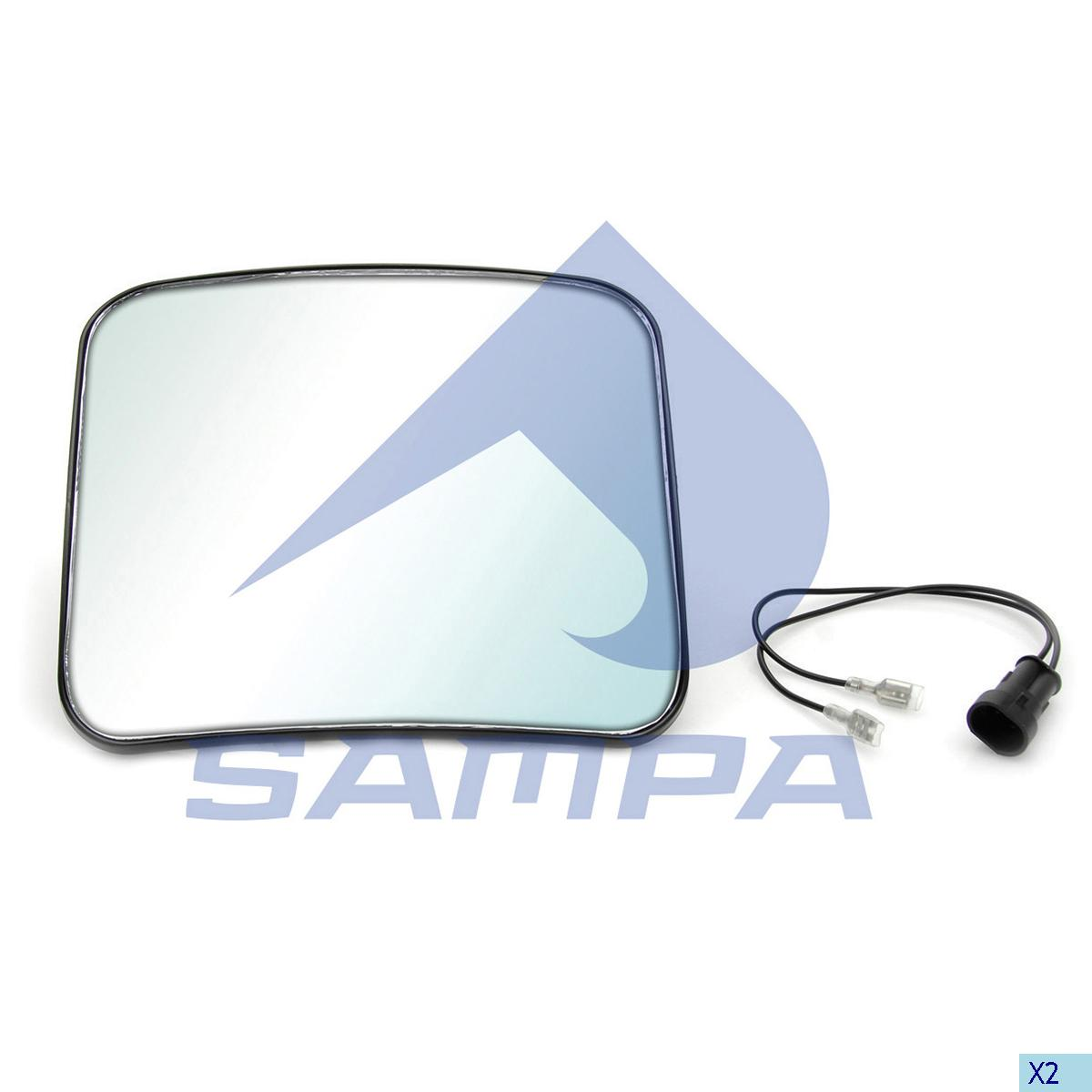 Mirror Glass, Iveco, Cab