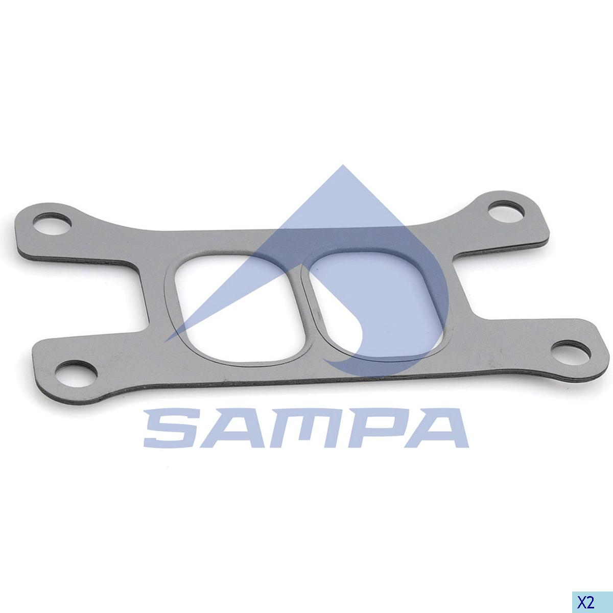 Gasket, Exhaust Manifold, Iveco, Engine