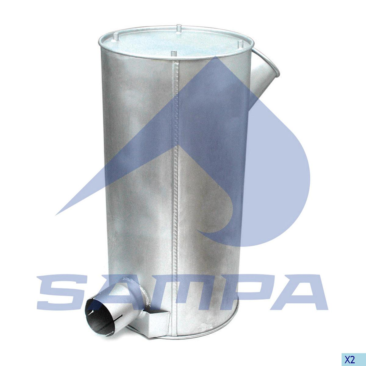 Silencer, Exhaust, Iveco, Engine