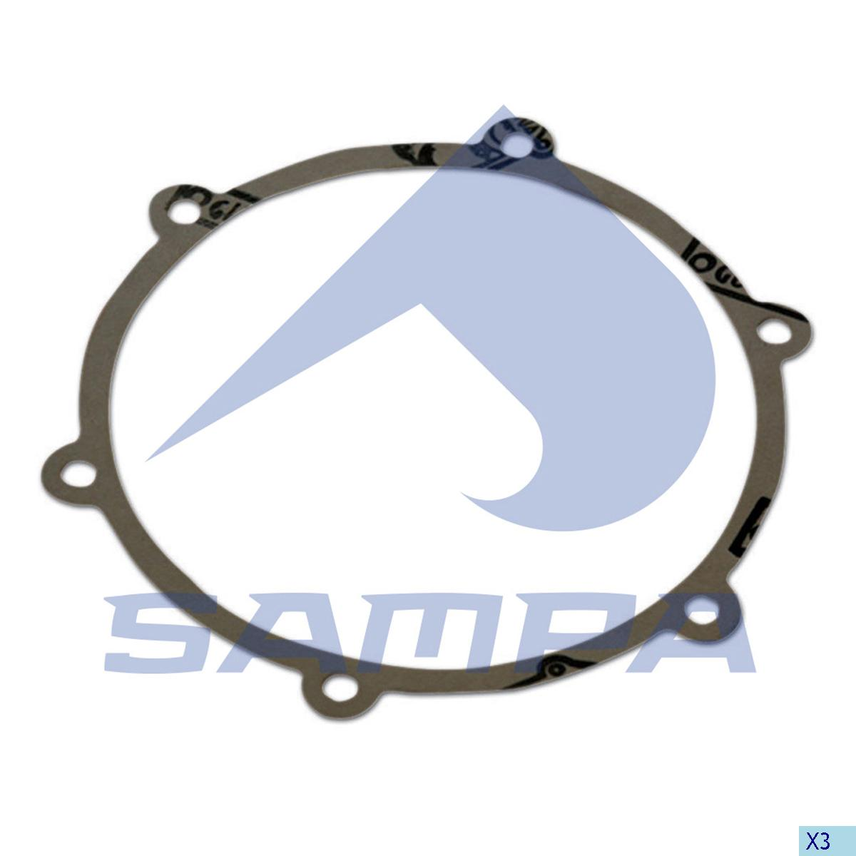 Gasket, Hub Cap, Sauer Achsen, Power Unit