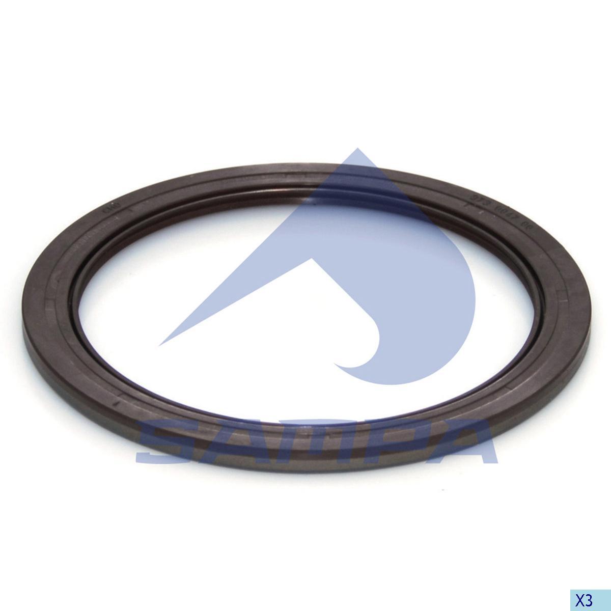 Seal Ring, Wheel Hub, Sauer, Power Unit