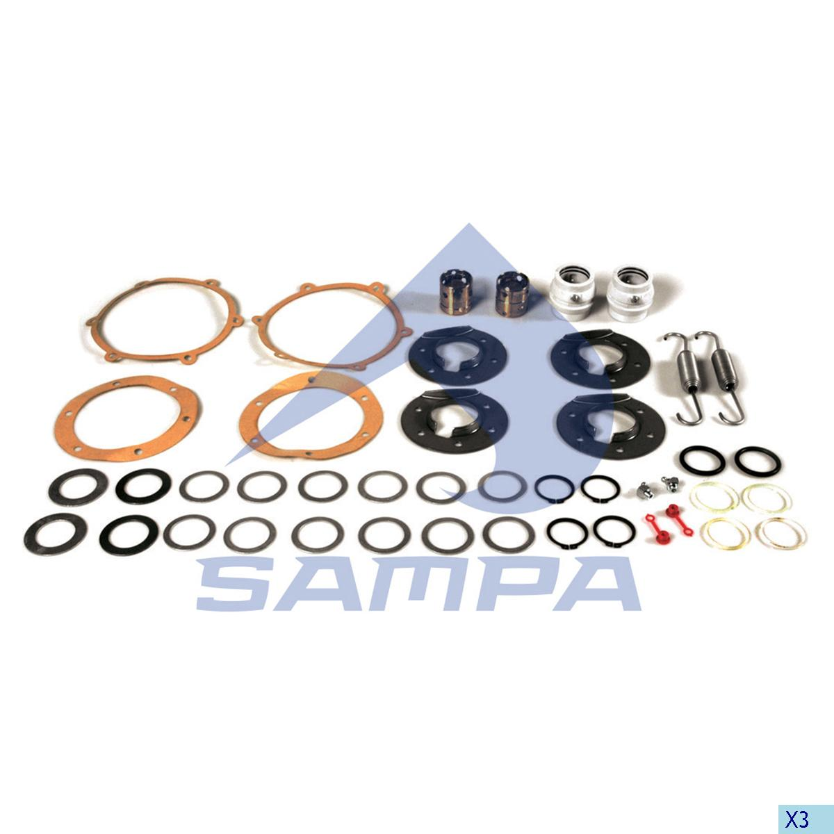 Repair Kit, Brake Cam Shaft, Sauer Achsen, Brake