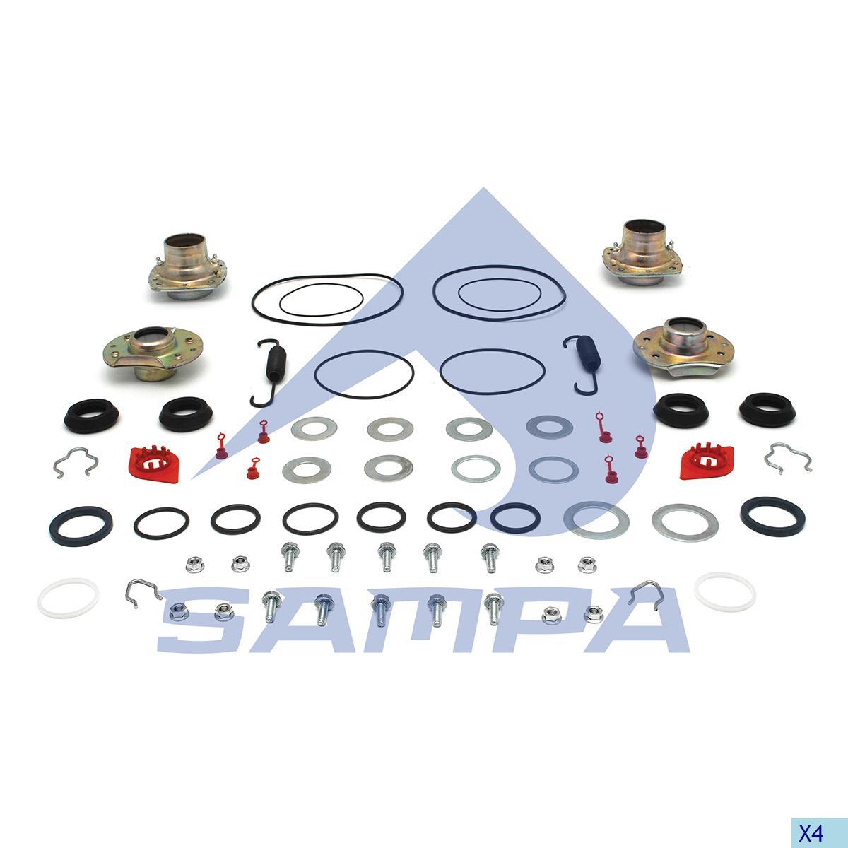 Repair Kit, Brake Cam Shaft, Sauer Achsen, Brake