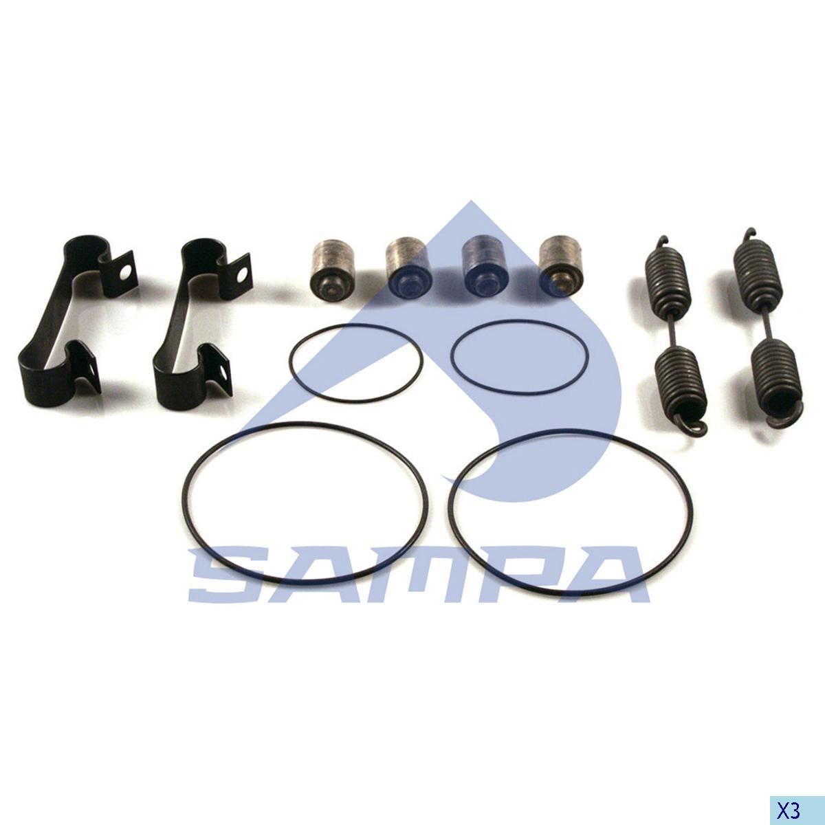 Repair Kit, Brake Shoe, Sauer Achsen, Brake