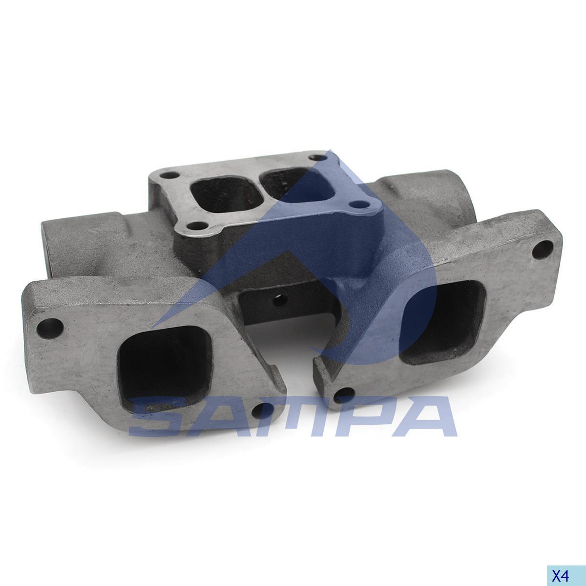 Exhaust Manifold, R.V.I., Engine