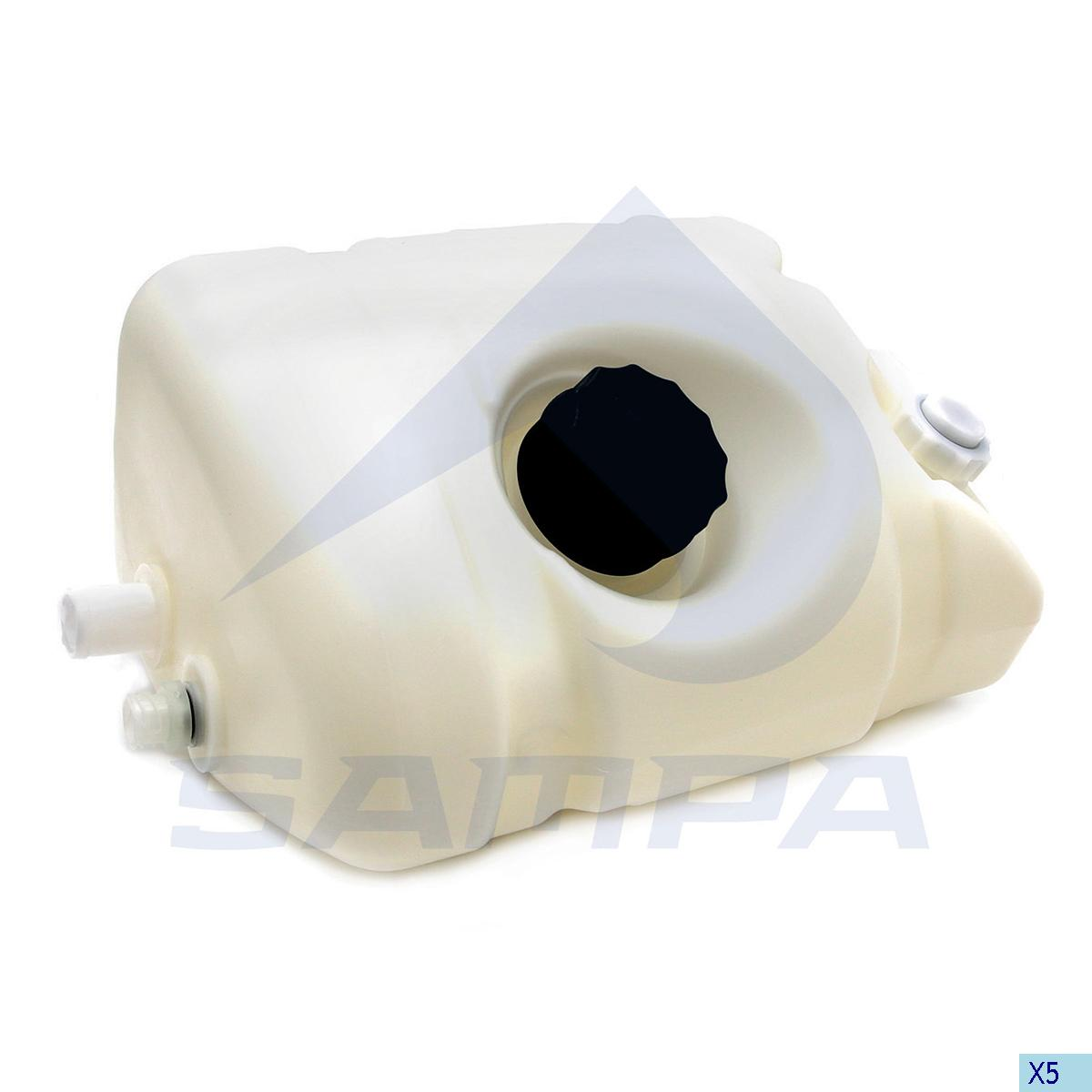 Expansion Tank, Radiator, R.V.I., Engine