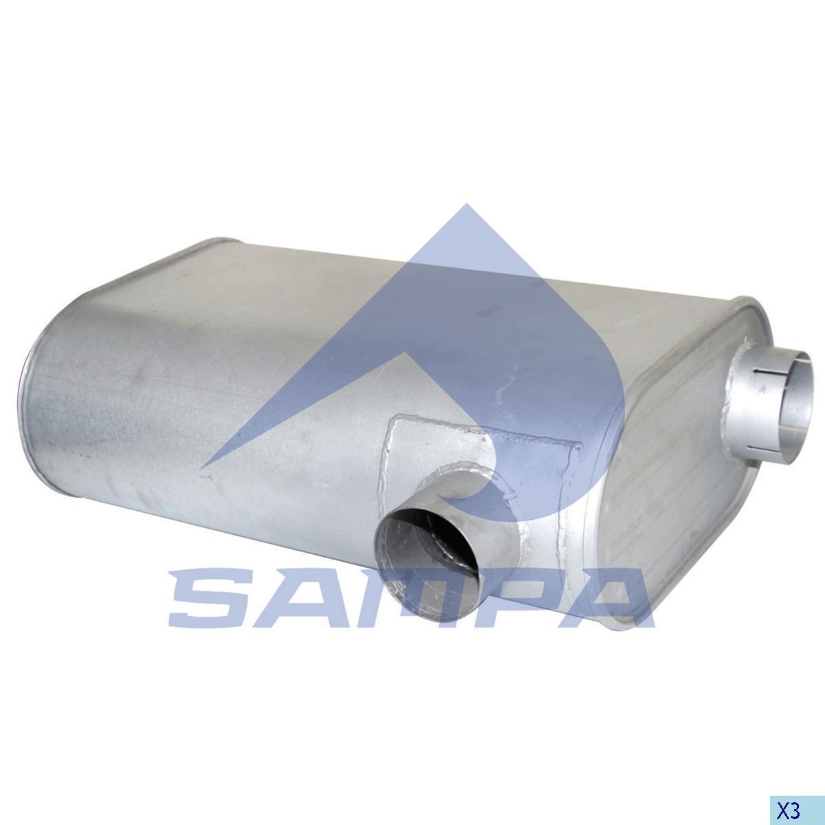 Silencer, Exhaust, R.V.I., Engine