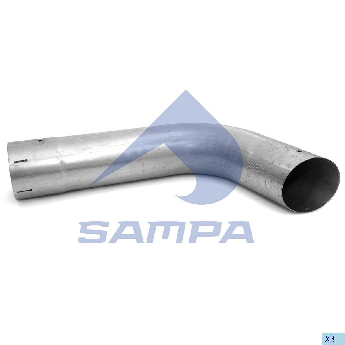 Pipe, Exhaust, R.V.I., Engine