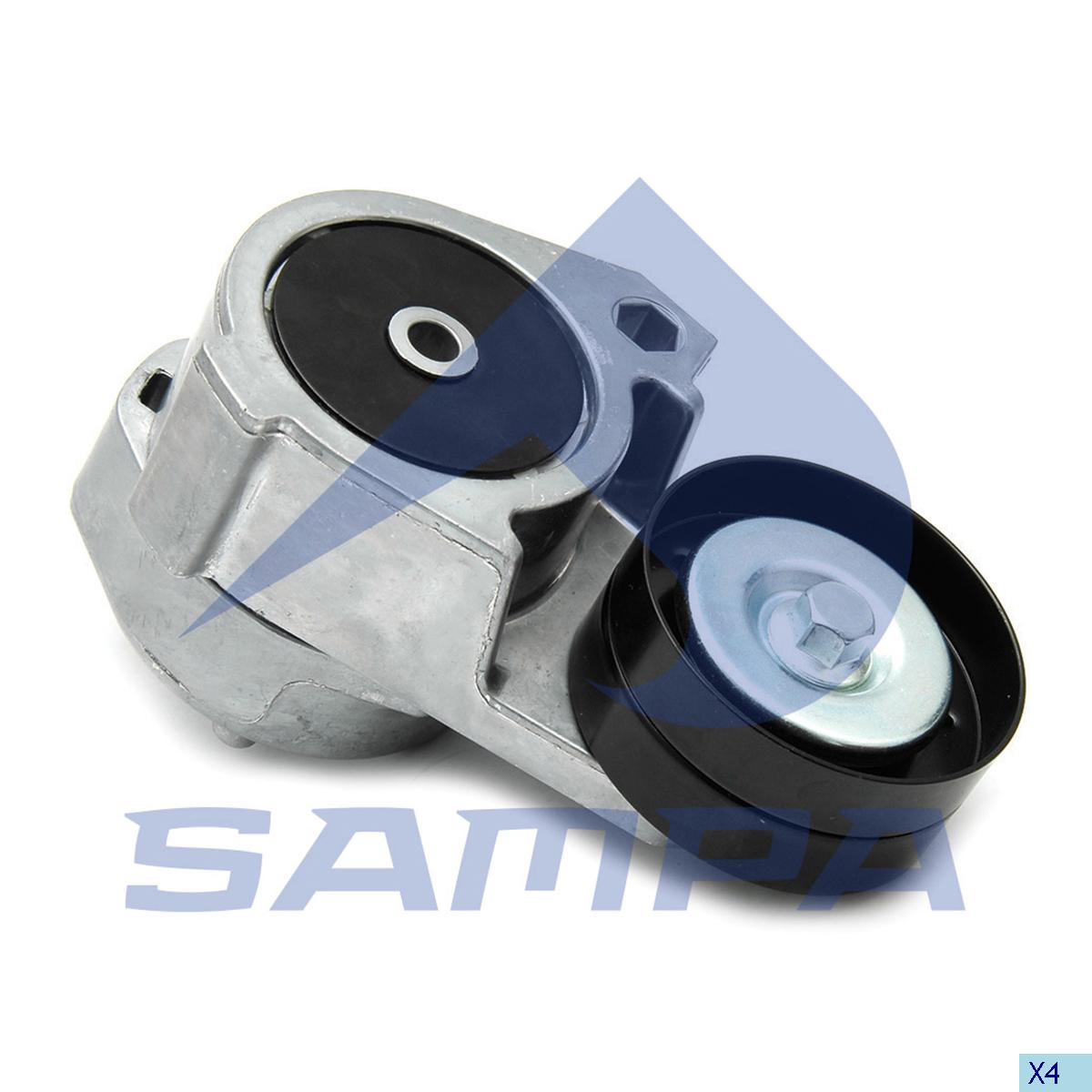 Belt Tensioner, Fan, R.V.I., Engine