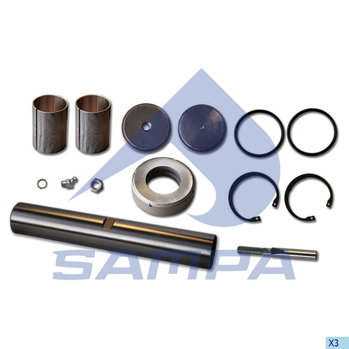 King Pin Kit, Axle Steering Knuckle, R.V.I., Power Unit