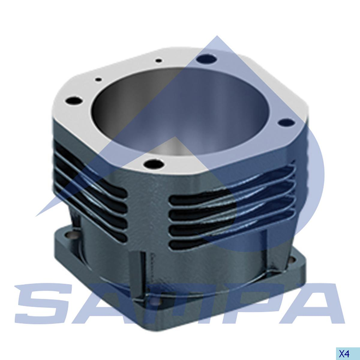 Cylinder Liner, Piston, Mercedes, Compressed Air System