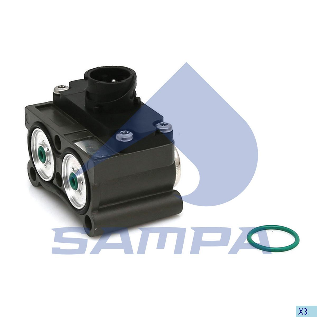 Solenoid Valve, Mercedes, Compressed Air System