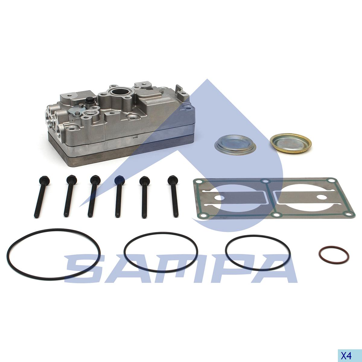 Cylinder Head, Scania, Compressed Air System