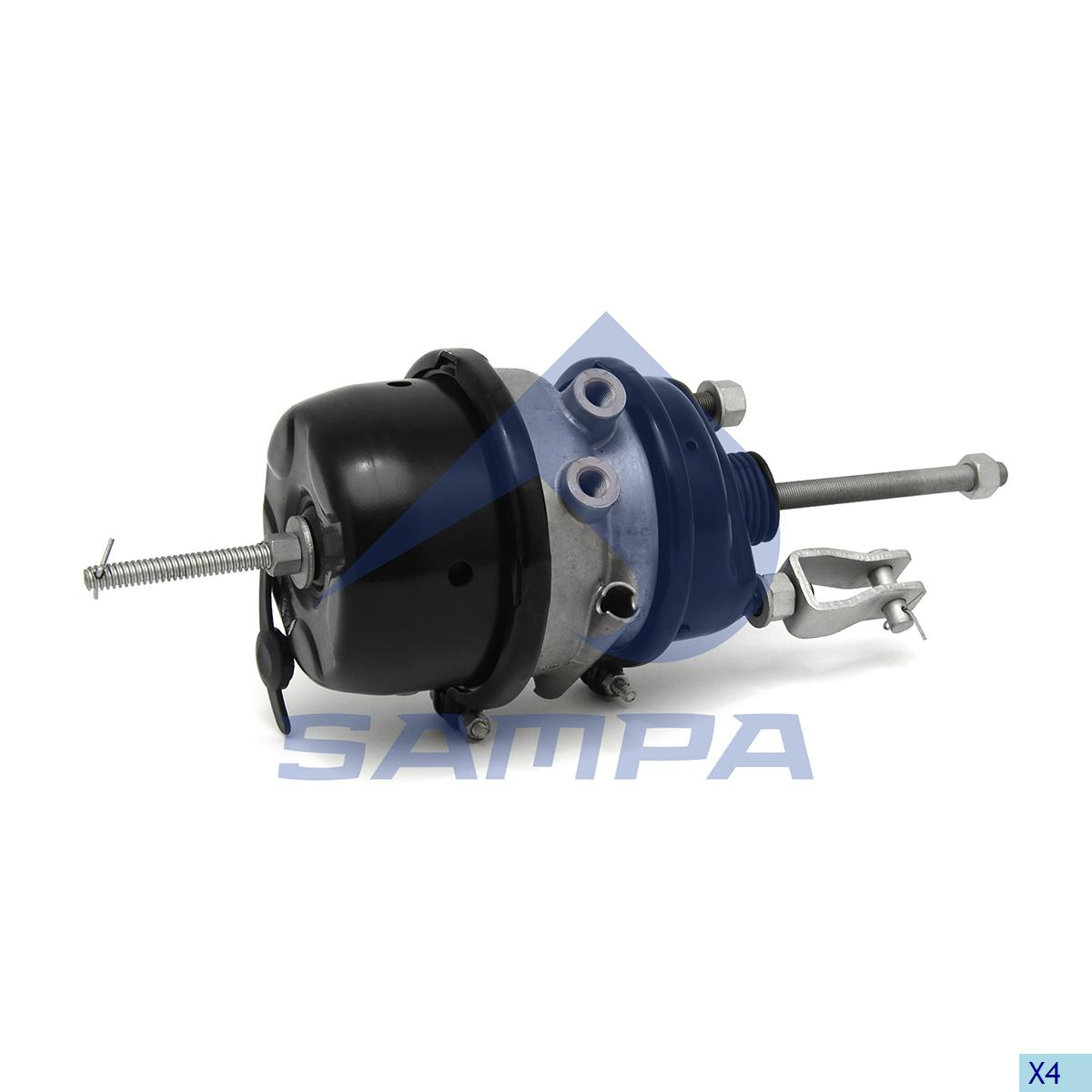 Double Diaphragm Brake Chamber, Universal, Brake