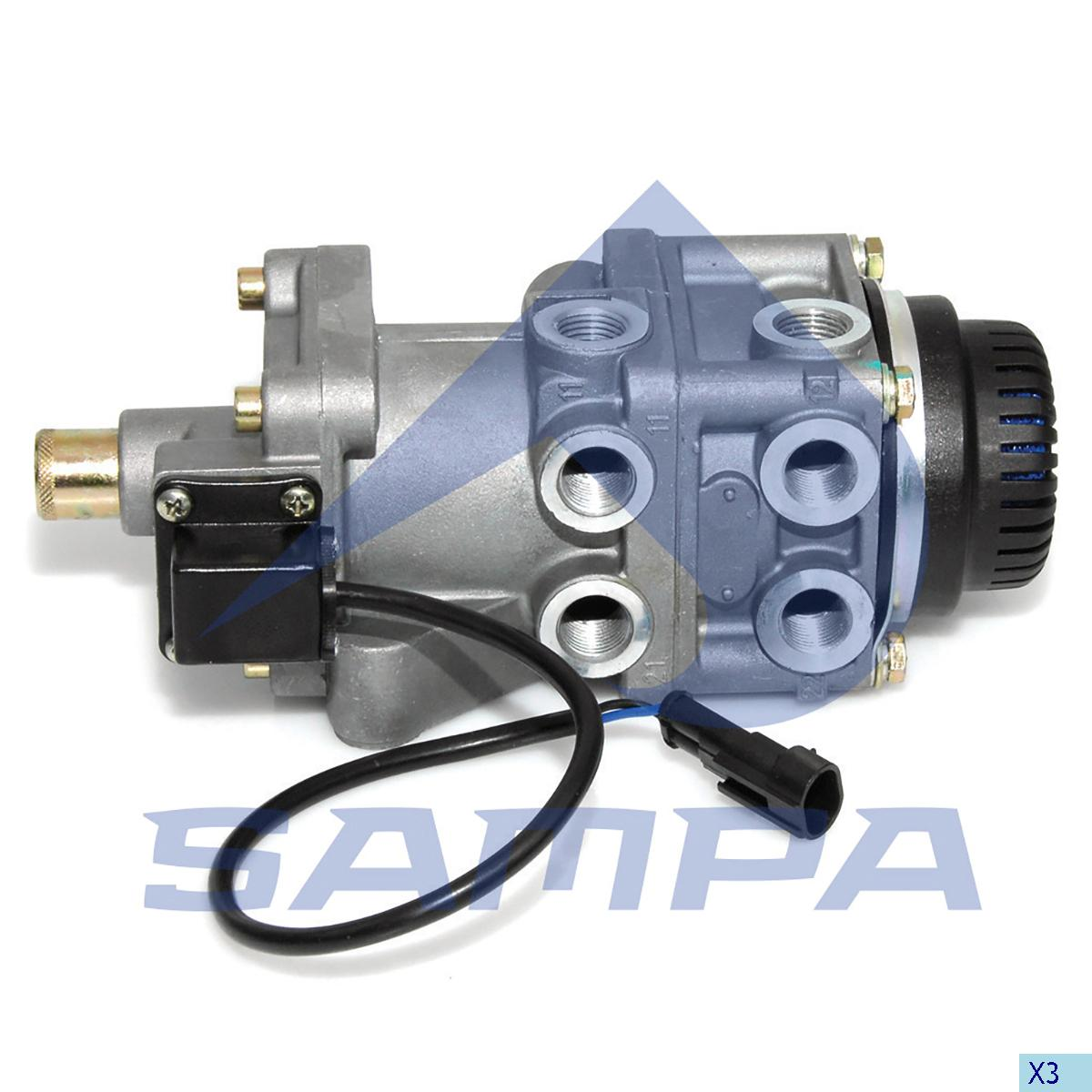 Foot Brake Valve, Iveco, Compressed Air System