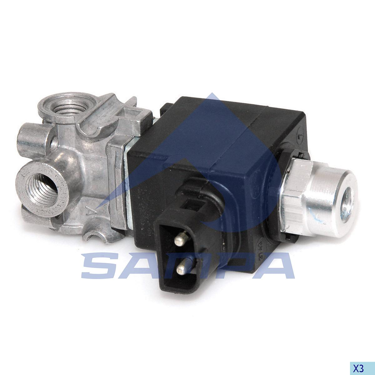 Solenoid Valve, Volvo, Compressed Air System