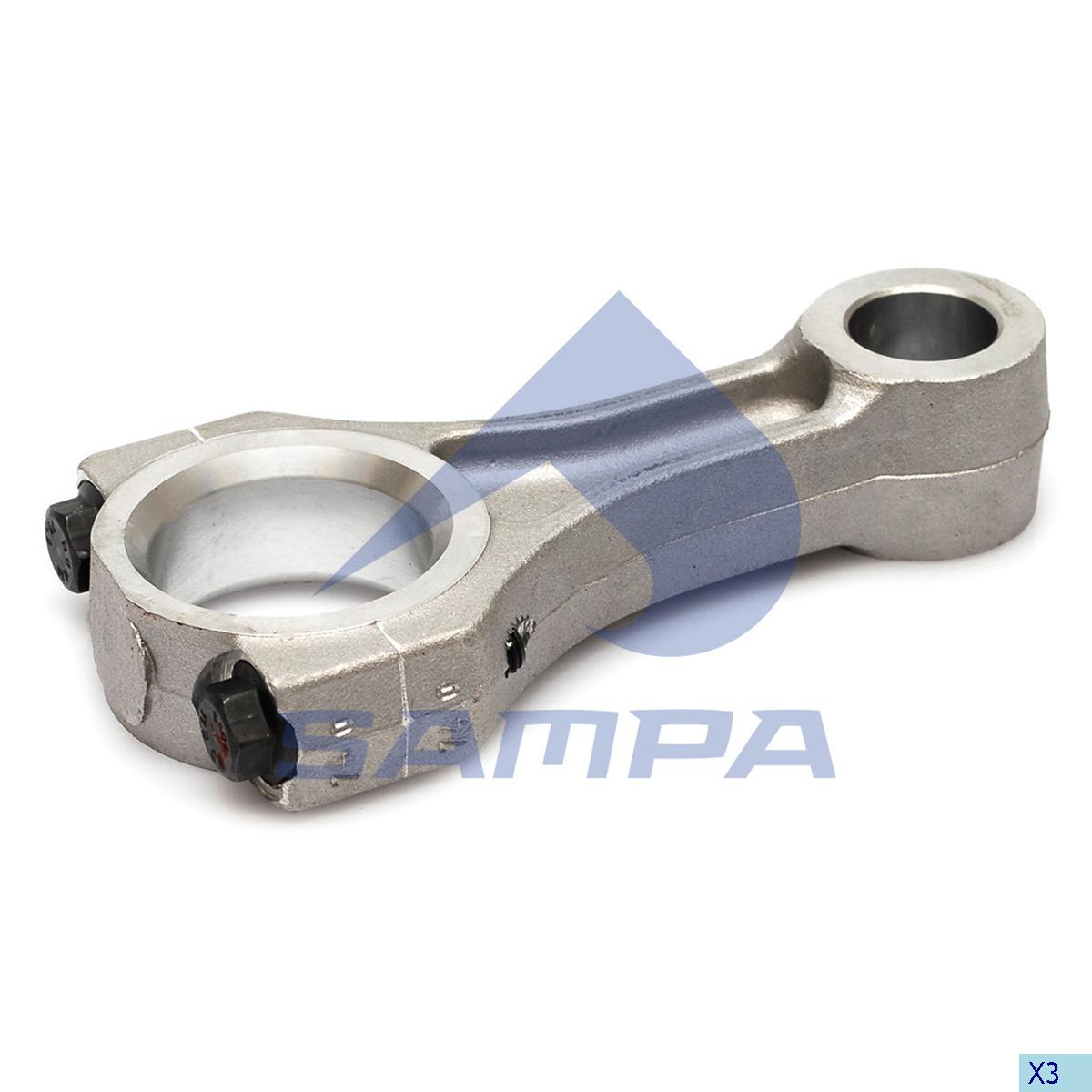 Connecting Rod, Piston, Mercedes, Compressed Air System