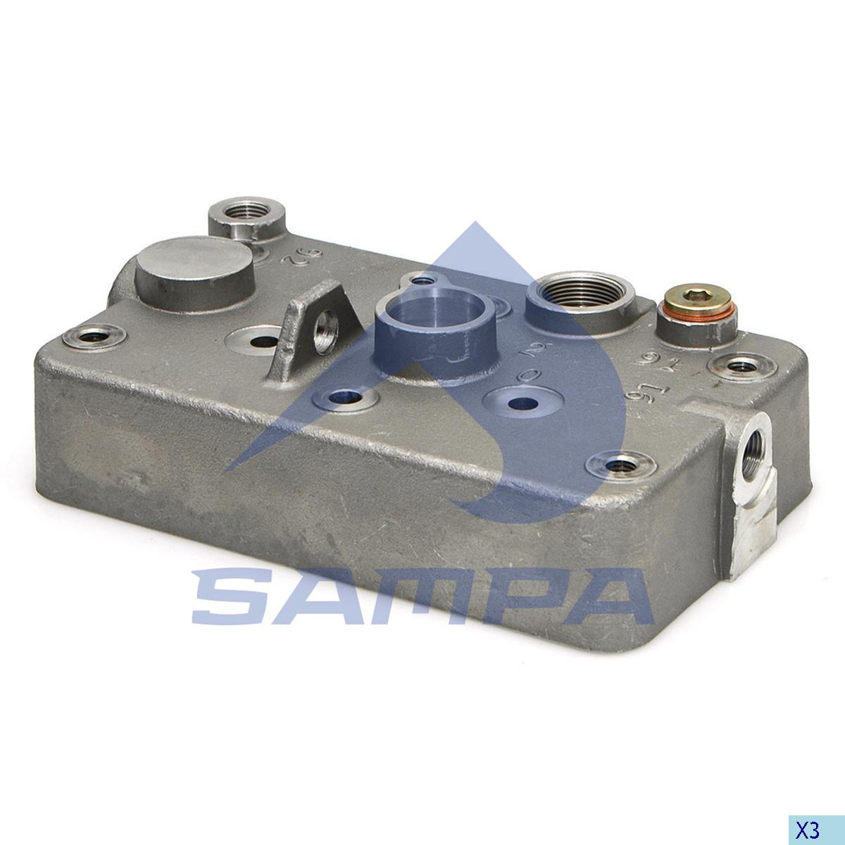 Cylinder Head, Volvo, Compressed Air System