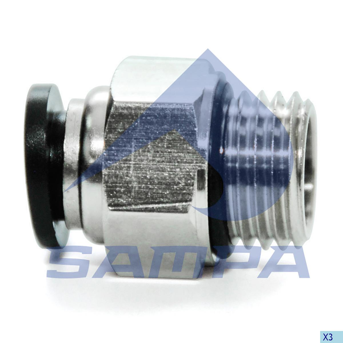 Male Push in Connector, Universal, Universal Parts