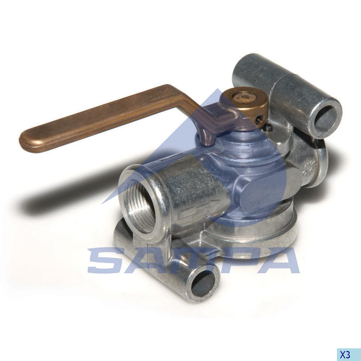 Shut-Off Valve, Mercedes, Compressed Air System