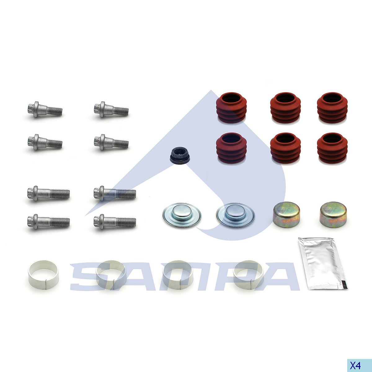 Repair Kit, Brake Caliper, Sauer Achsen, Brake