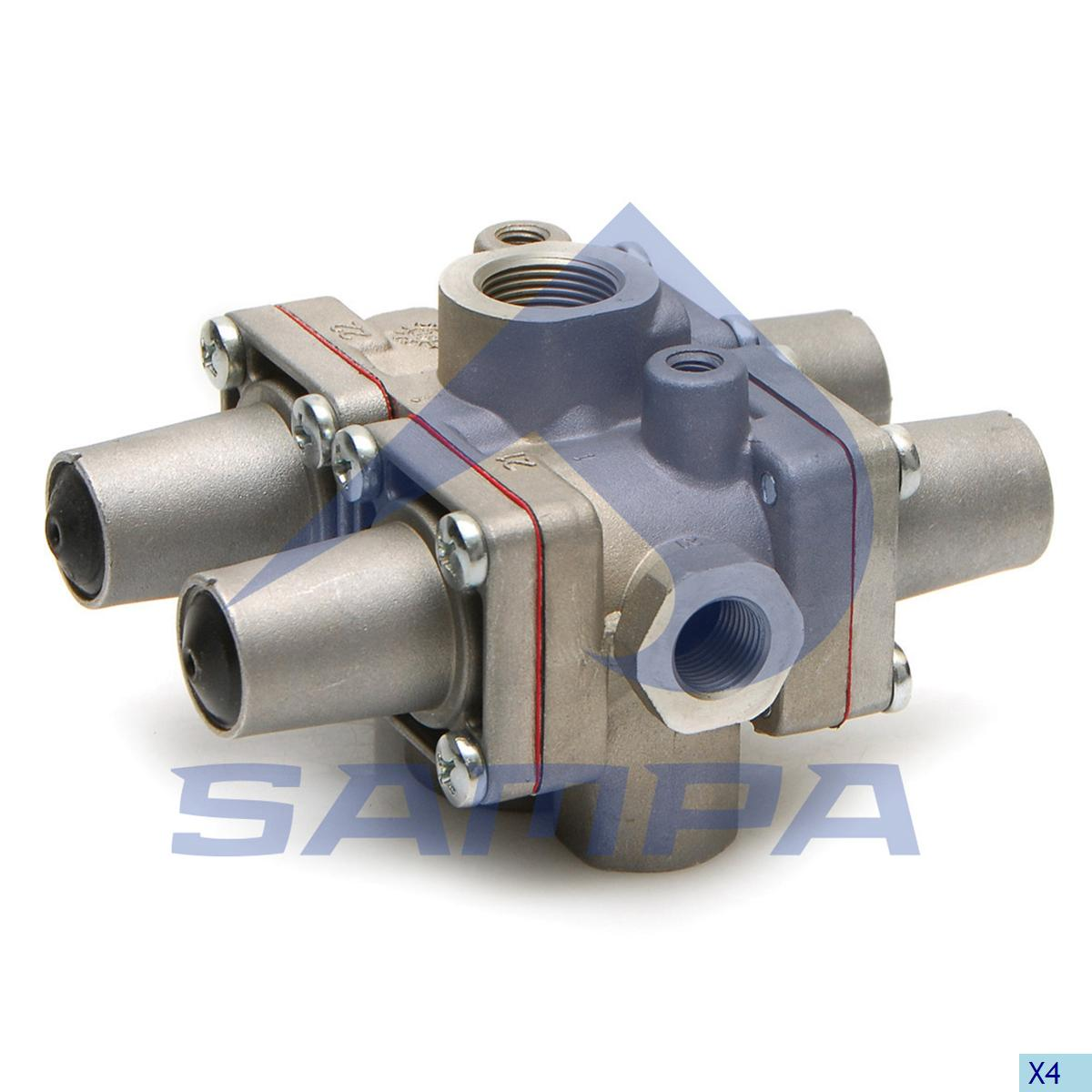 Multiway Valve, Mercedes, Compressed Air System