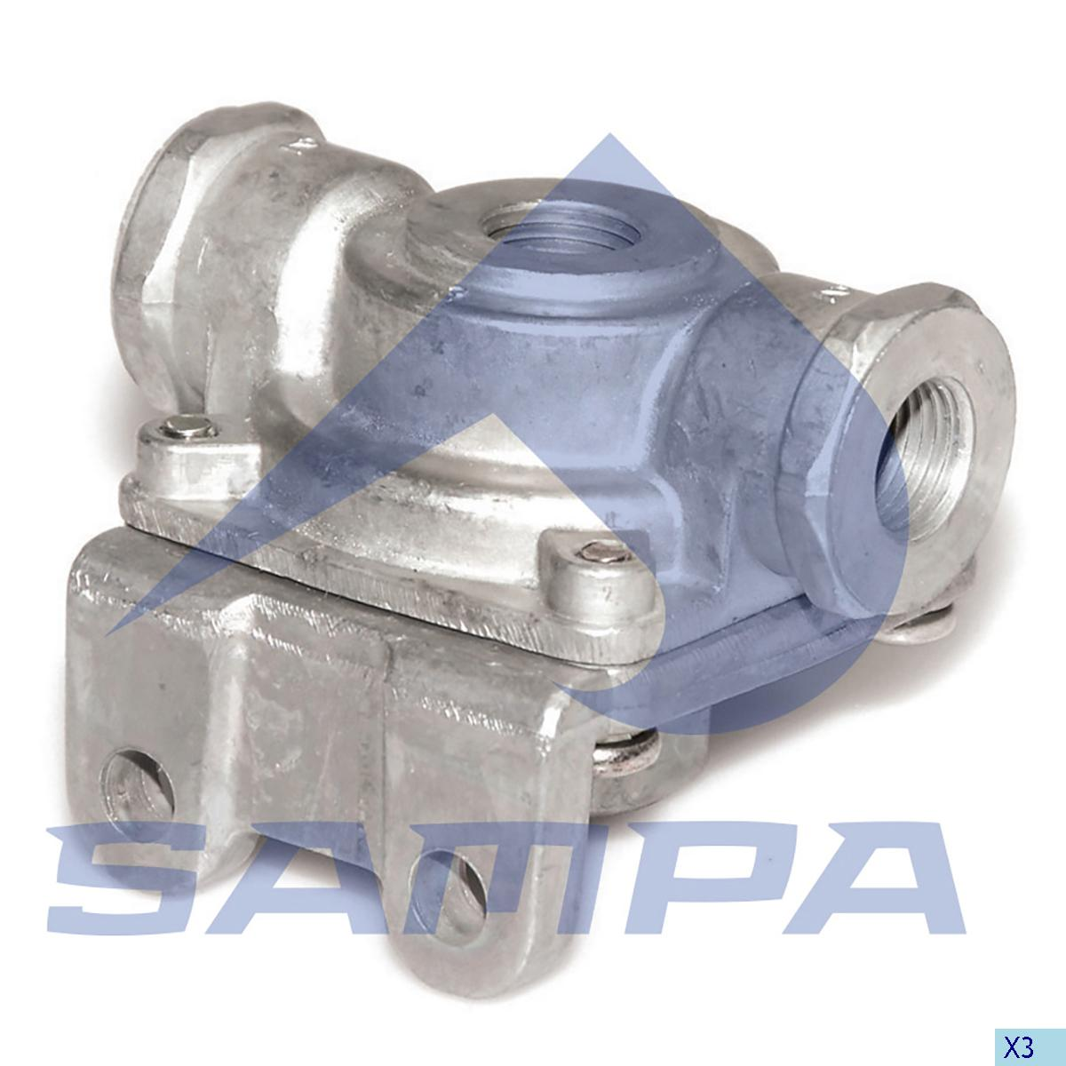 Quick Release Valve, Scania, Compressed Air System