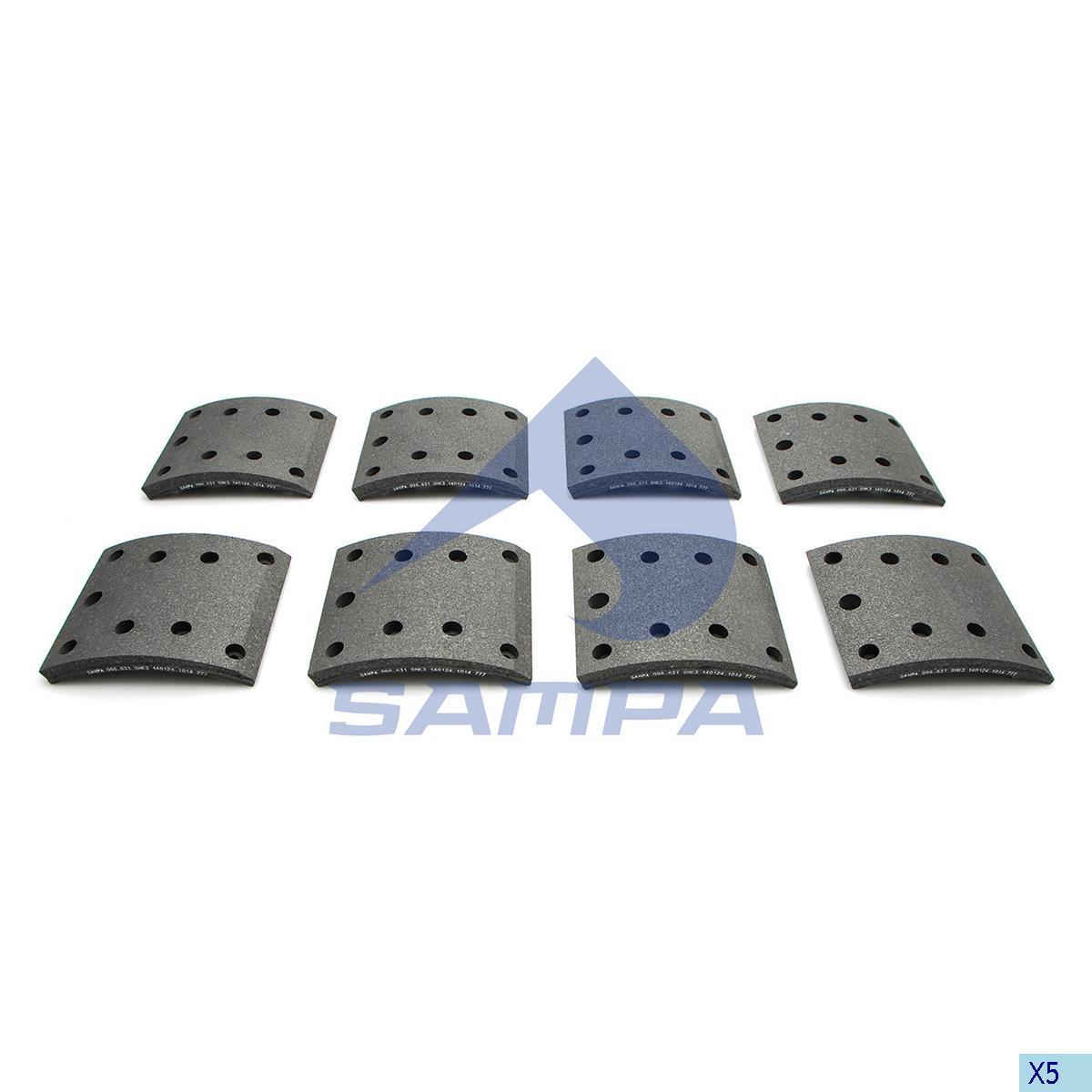 Lining Kit, Brake Drum, Mercedes, Brake