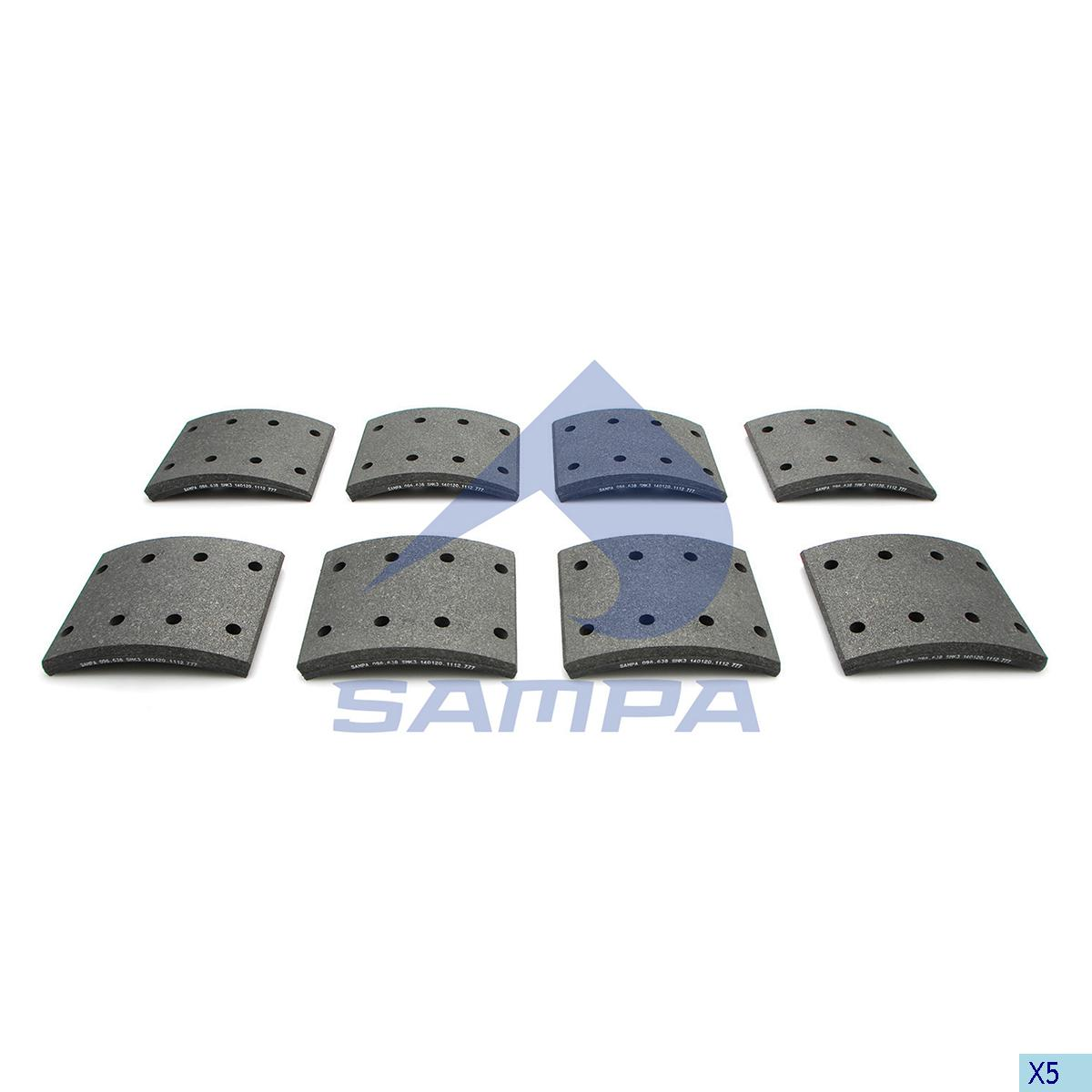 Lining Kit, Brake Drum, Daf, Brake