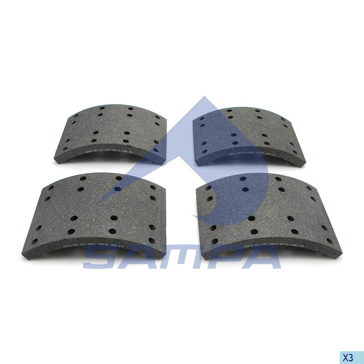 Lining Kit, Brake Drum, Scania, Brake
