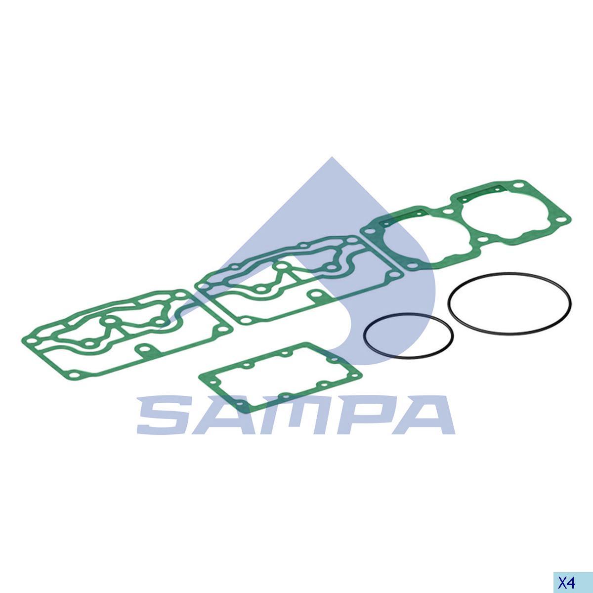 Gasket Kit, Compressor, Volvo, Compressed Air System