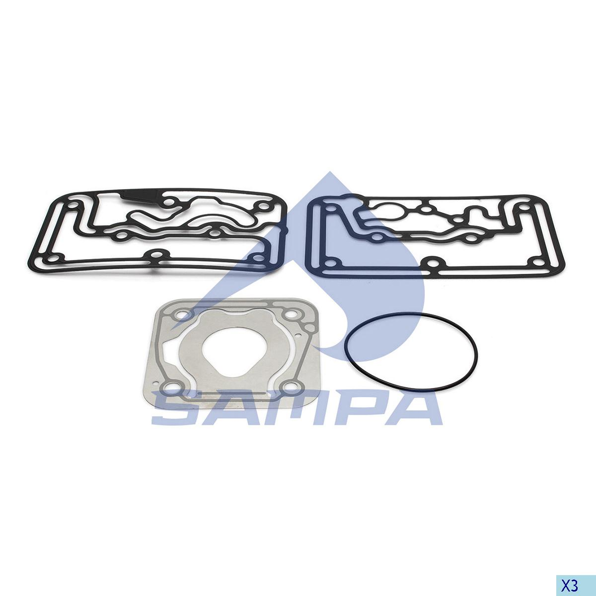 Gasket Kit, Compressor, Volvo, Compressed Air System