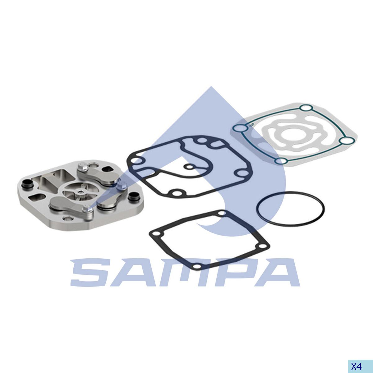 Plate Kit, Cylinder Head, Mercedes, Compressed Air System