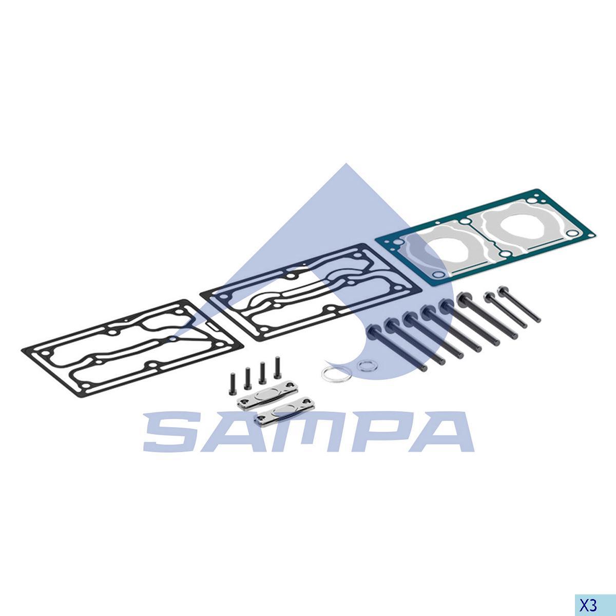 Gasket Kit, Cylinder Head, Mercedes, Compressed Air System
