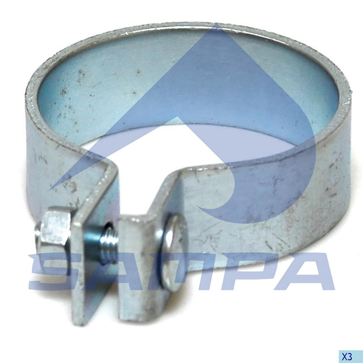 Clamp, Exhaust, Mercedes, Engine