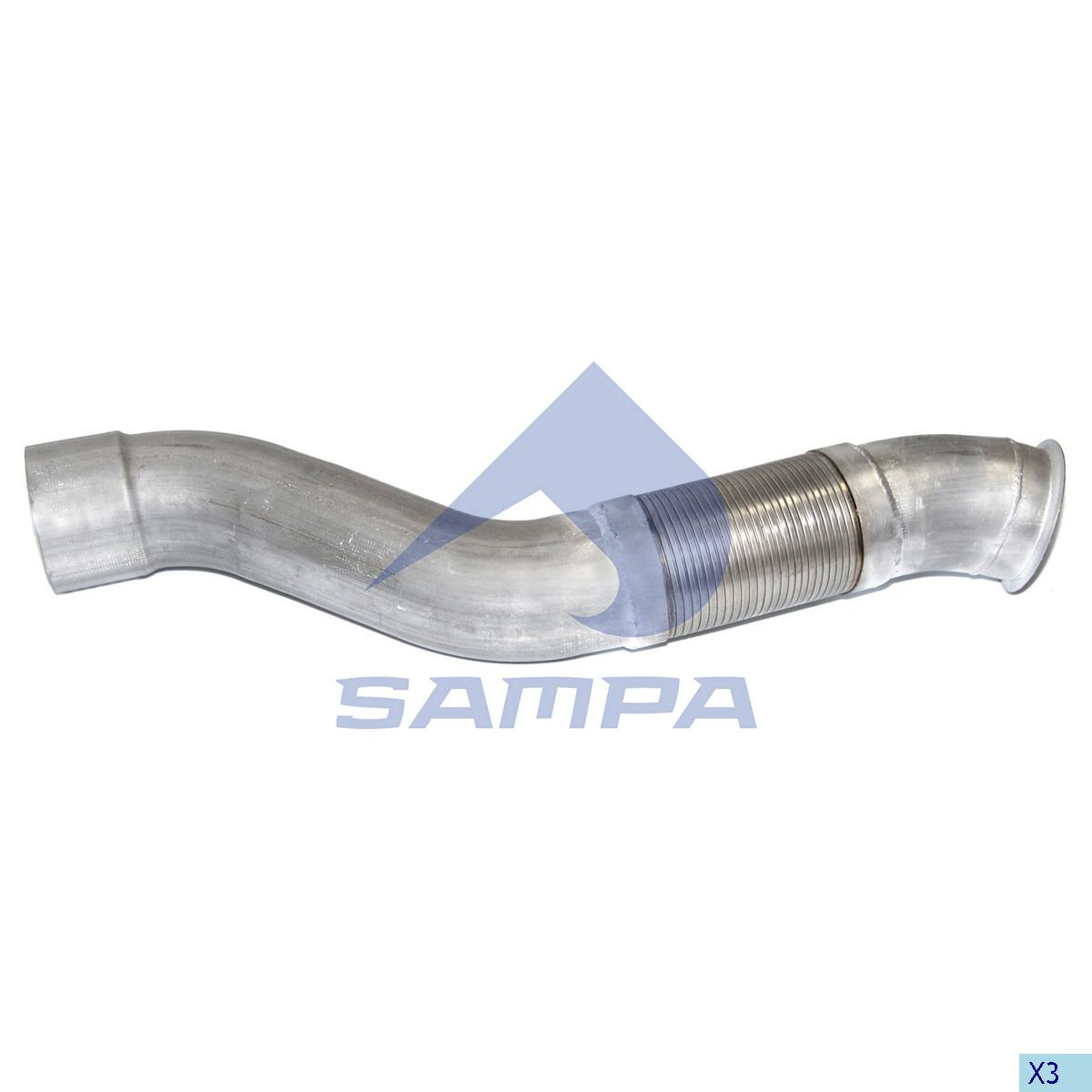 Flexible Pipe, Exhaust, Mercedes, Engine