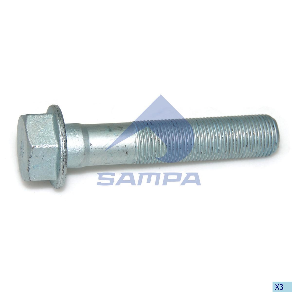 Screw, Axle Rod, Mercedes, Suspension