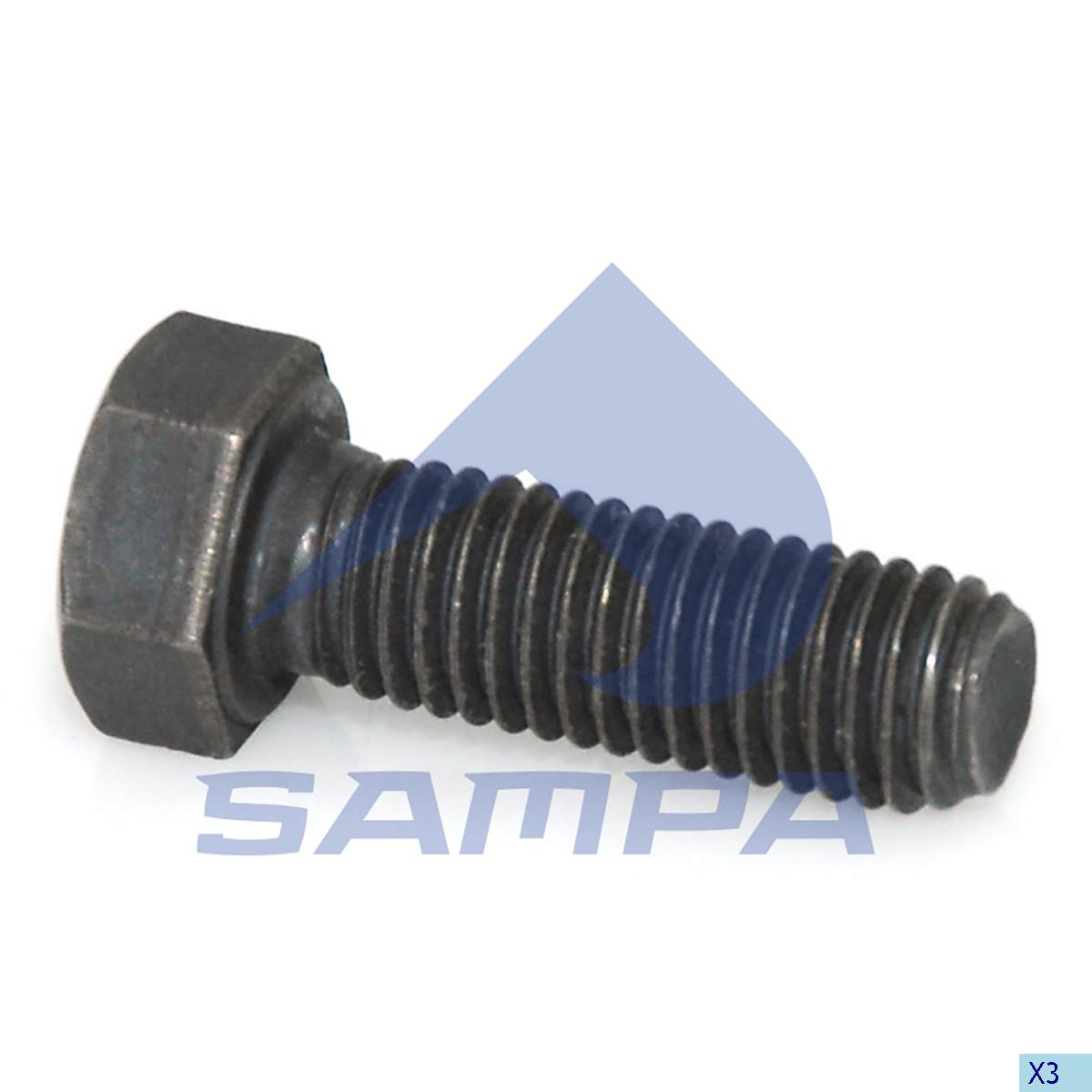Screw, Wheel Hub, Volvo, Power Unit