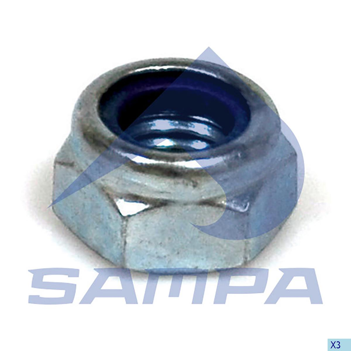 Nut, Wheel Hub, Scania, Power Unit