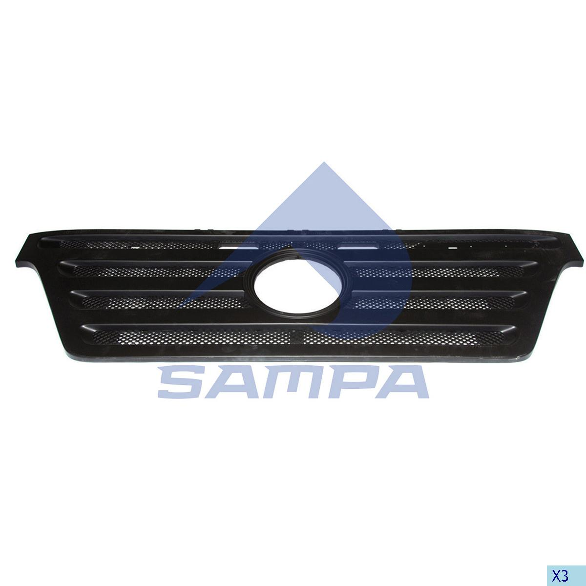 Grille, Front Panel, Mercedes, Cab