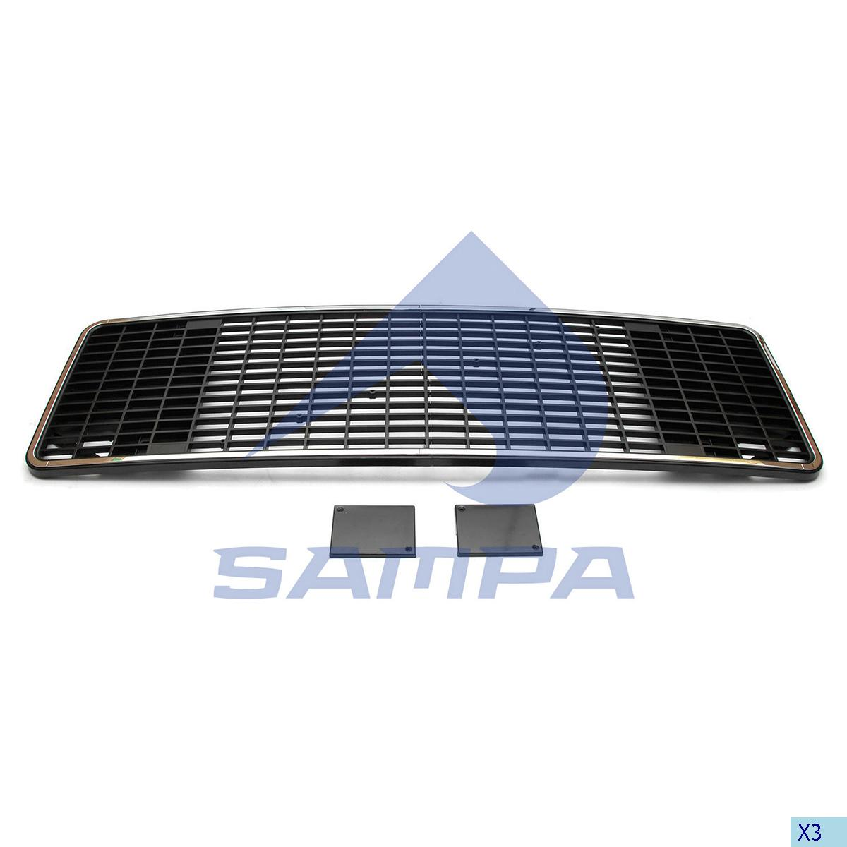 Grille, Front Panel, Volvo, Cab
