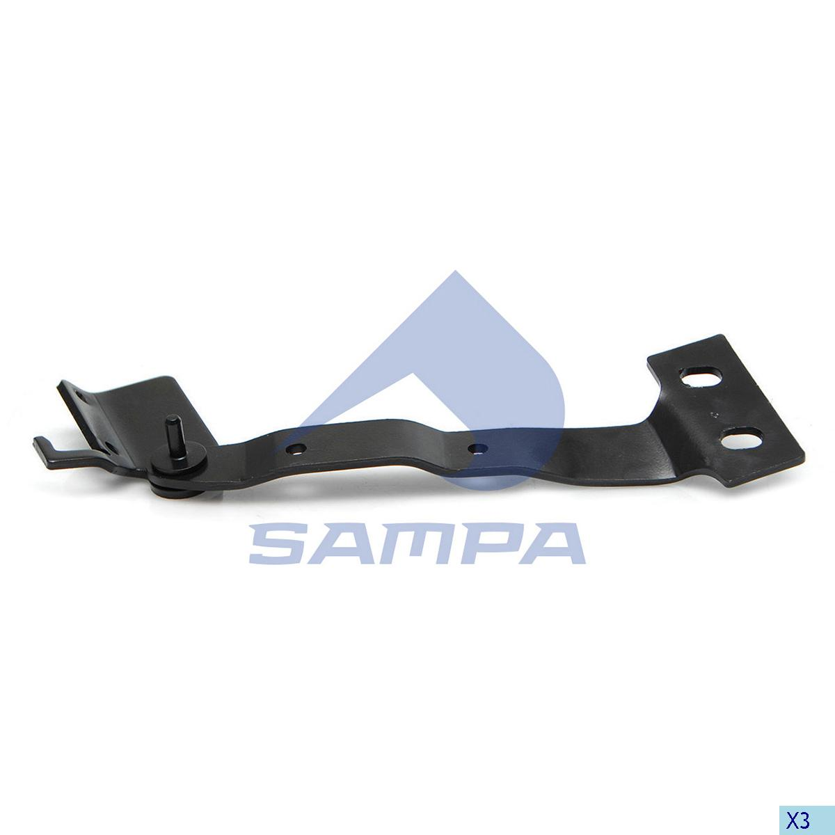 Hinge, Front Panel, Scania, Cab