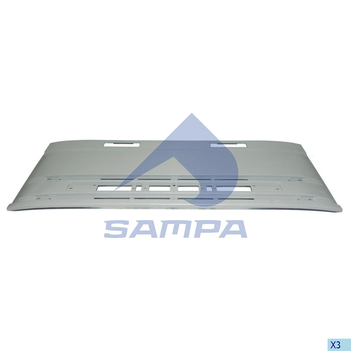 Grille, Front Panel, Iveco, Cab