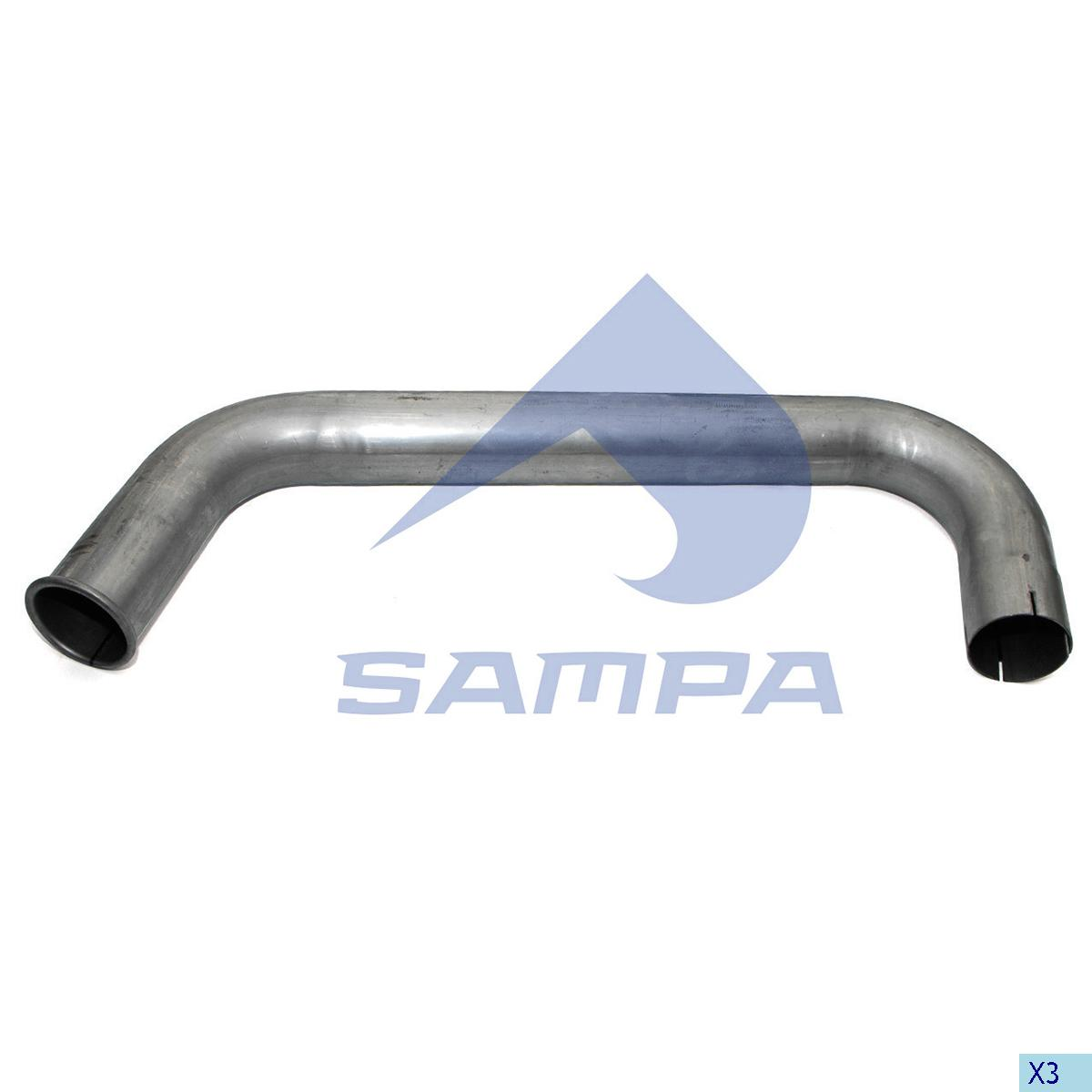 Pipe, Exhaust, Mercedes, Engine
