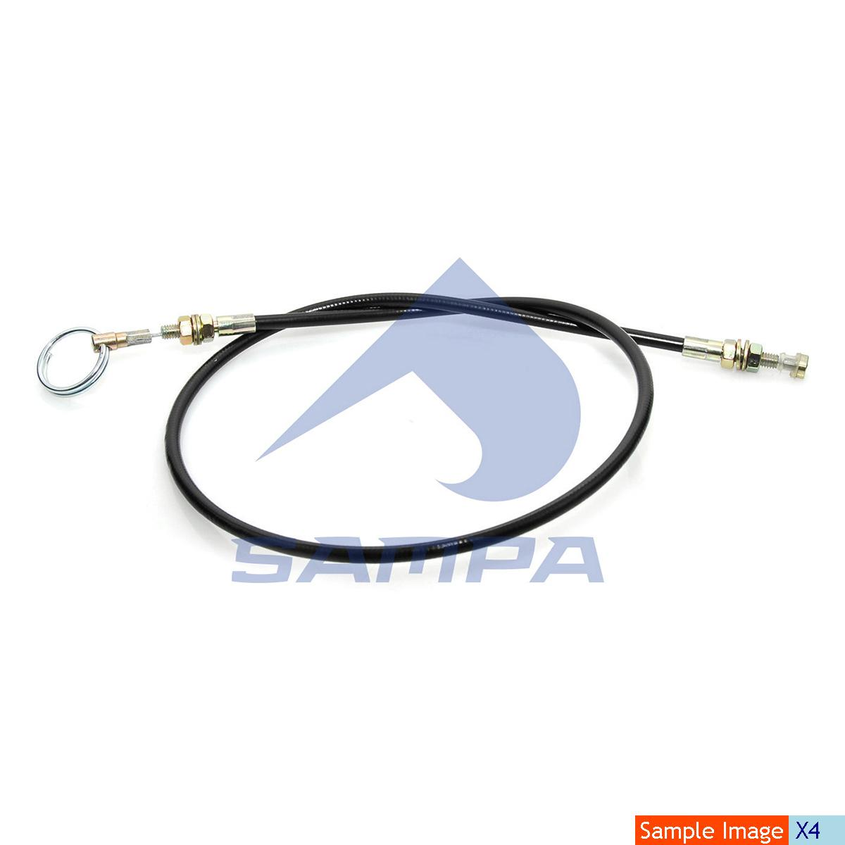 Cable, Front Panel Lock, Mercedes, Cab