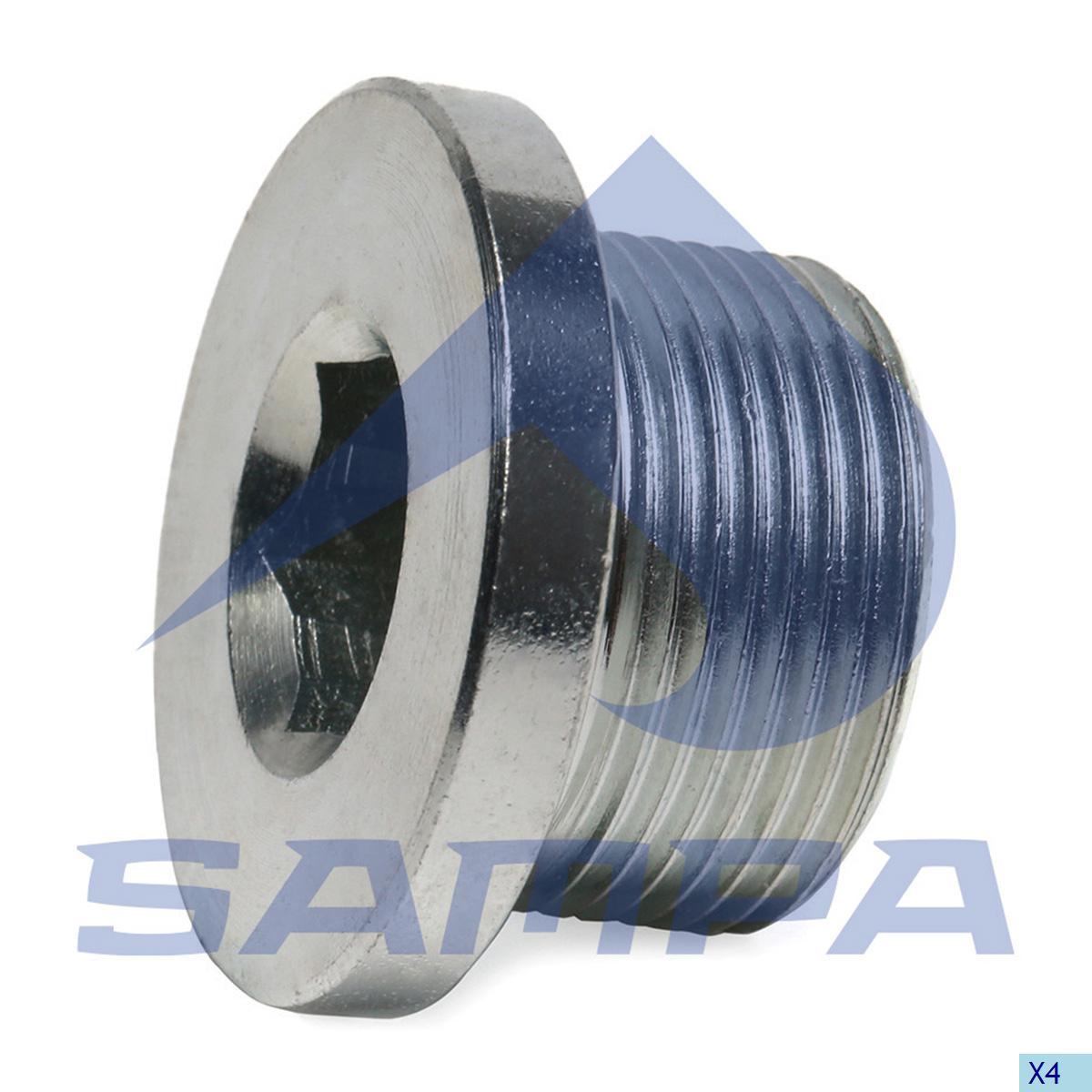 Plug, Oil Sump, Mercedes, Engine