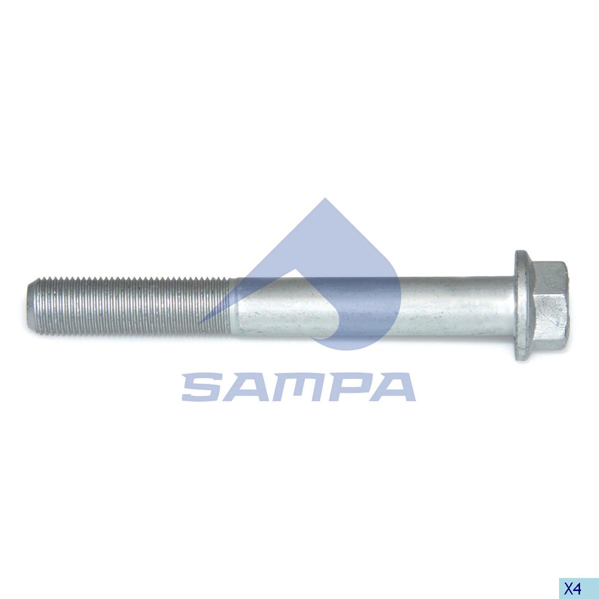 Screw, Shock Absorber, Mercedes, Suspension