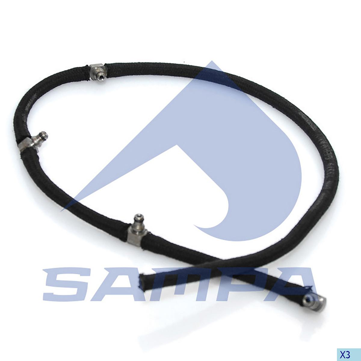 Return Hose, Injector, Mercedes, Engine