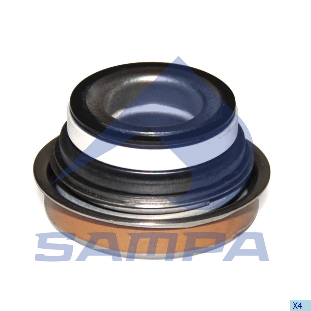 Seal Ring, Water Pump, Mercedes, Engine